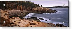 Rock Formations At The Coast, Monument Acrylic Print by Panoramic Images