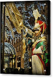 Rockefeller Center Bugle Boy Acrylic Print by Lee Dos Santos