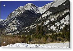 Rockies Acrylic Print by Tom Wilbert