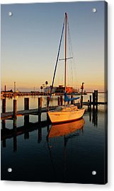 Rockport, Texas Harbor At Sunset Acrylic Print by Larry Ditto