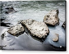 Rocks In The River Acrylic Print by Andrew Matwijec