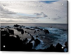Rocky Beach At Dusk  Acrylic Print