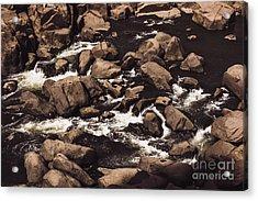 Rocky Launceston River From Cataract Gorge Acrylic Print