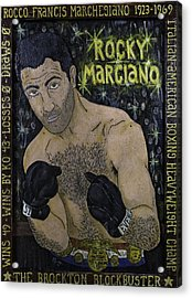 Acrylic Print featuring the painting Rocky Marciano by Eric Cunningham