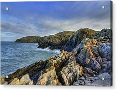 Rocky Ocean Acrylic Print by Ian Mitchell