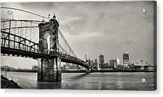 Roebling Suspension Bridge Panorama Acrylic Print