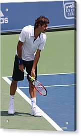 Roger Federer	 Acrylic Print by James Marvin Phelps