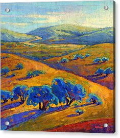Acrylic Print featuring the painting Rolling Hills 1 by Konnie Kim
