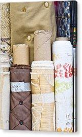 Rolls Of Fabric  Acrylic Print by Tom Gowanlock