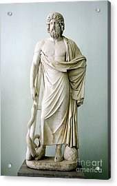 Roman Statue Of Asclepius Acrylic Print by Sheila Terry