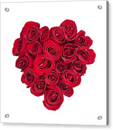 Rose Heart Acrylic Print