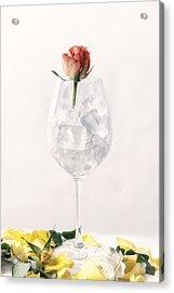 Rose On The Rocks Acrylic Print