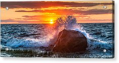 Rough Sea Acrylic Print by Bill Wakeley