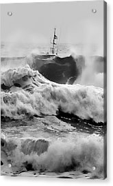 Rough Sea Training Acrylic Print