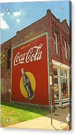 Route 66 - Coca Cola Ghost Mural Acrylic Print