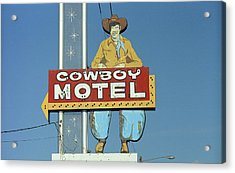 Route 66 - Cowboy Motel Acrylic Print