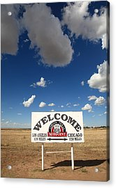 Route 66 - Midpoint Sign Acrylic Print by Frank Romeo