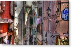 Street Lamps Acrylic Print by Uri Baruch