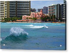 Royal Hawaiian Hotel Acrylic Print by Kevin Smith