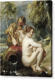 Rubens, Peter Paul 1577-1640. Nymphs Acrylic Print by Everett