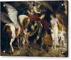 Rubens, Peter Paul 1577-1640. Perseus Acrylic Print by Everett