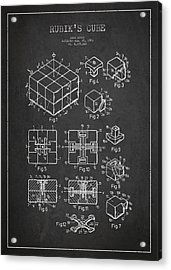 Rubiks Cube Patent Acrylic Print by Aged Pixel