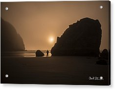 Ruby Beach Sunset Acrylic Print