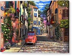 Rue Francais Acrylic Print by Dominic Davison