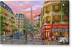 Rue Paris Acrylic Print by Dominic Davison