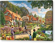 Rural Life Acrylic Print by Steve Crisp