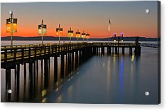 Ruston Way Tacoma Sunset Acrylic Print by Bob Noble Photography