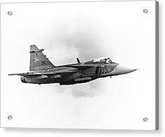 Saab Jas-39 Gripen Acrylic Print