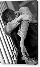 Sadness Acrylic Print by Michal Bednarek