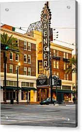 Saenger Theatre New Orleans Paint 2 Acrylic Print by Steve Harrington