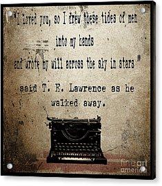 Said T E Lawrence Acrylic Print by Cinema Photography