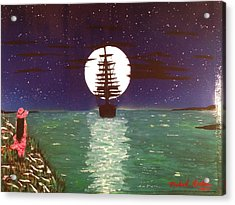 Acrylic Print featuring the painting Sail Away by Michael Rucker