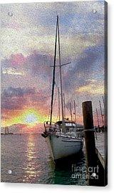 Sailboat Acrylic Print by Jon Neidert