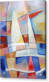 Sailing Joy Acrylic Print by Lutz Baar