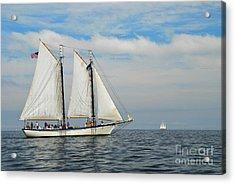 Sailing The Open Seas Acrylic Print by Allen Beatty
