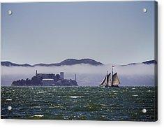 Sailing To Alcatraz Acrylic Print by Dee  Savage
