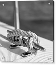 Sailor's Knot Square Acrylic Print by Laura Fasulo