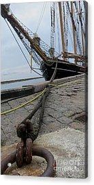 Sailship In Marstal Acrylic Print by Susanne Baumann