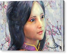 Acrylic Print featuring the digital art Saint Anna Wang  by Suzanne Silvir