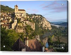 Saint Cirq Lapopie Acrylic Print by Brian Jannsen