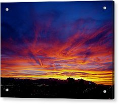 Salt Lake City Sunset Acrylic Print