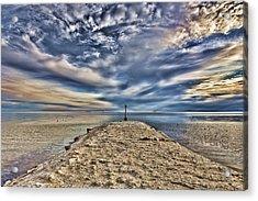 Salt Pier Salton Sea Acrylic Print by Hugh Smith