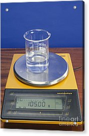 Salt Solution On Scales Acrylic Print by Andrew Lambert Photography