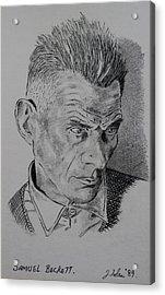 Samuel Beckett Acrylic Print by John  Nolan