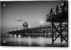 San Clemente Pier At Sunset Acrylic Print by Pixabay