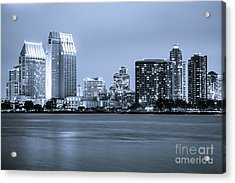 San Diego At Night Acrylic Print by Paul Velgos